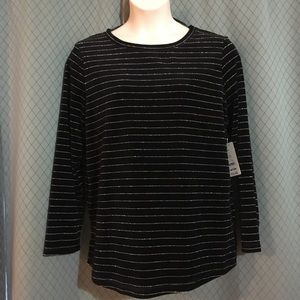 XL WHITE STAG PULLOVER Sweater Black /Shiny SILVER